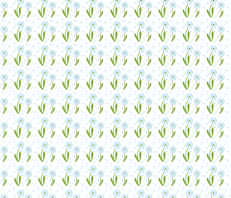 Dandelion Delirium-Light Blue-ch fabric by mayabella on Spoonflower - custom fabric