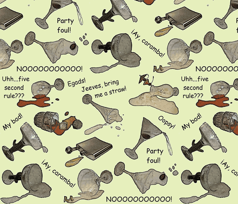 Egads, Jeeves! lg/green fabric by glitteristhenewblack on Spoonflower - custom fabric