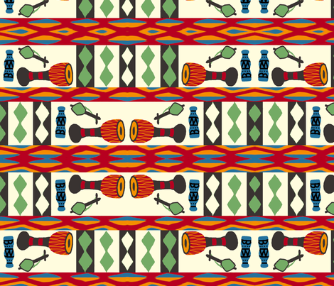 African Rhythms fabric by weedesigns on Spoonflower - custom fabric