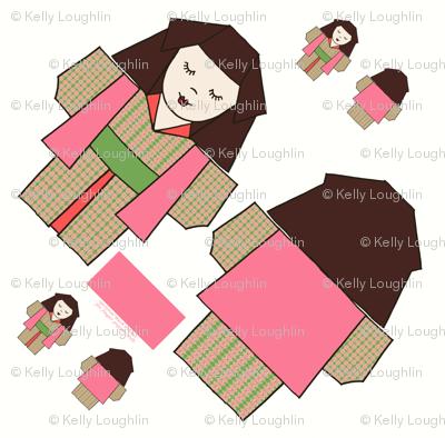 Origami Kimono Girls