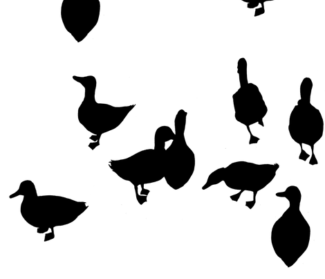 ducks and geese fabric by leonielovesyou on Spoonflower - custom fabric