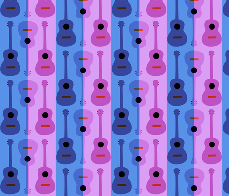 oh yikes, ukes fabric by vo_aka_virginiao on Spoonflower - custom fabric