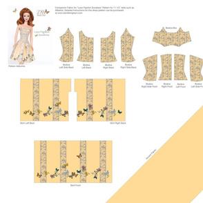 "Lace Papillon Sundress for 11 1/2"" dolls"