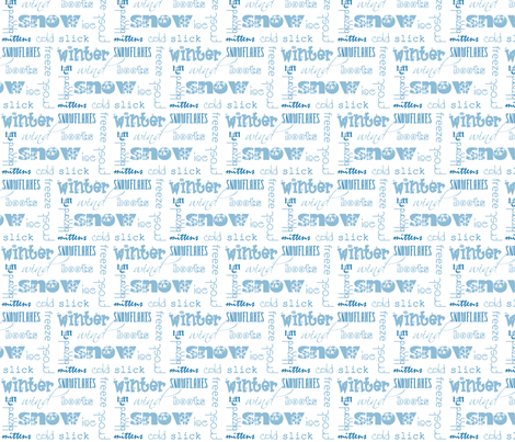 winterwords fabric by winter on Spoonflower - custom fabric