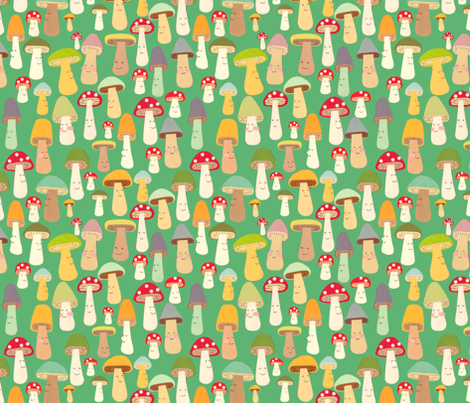 more mushrooms fabric by heidikenney on Spoonflower - custom fabric