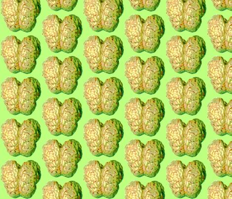 Green Zombie Brain Reign fabric by squarejane on Spoonflower - custom fabric