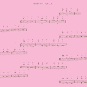 Vintage Printable - Medieval Music-Pink and Olive