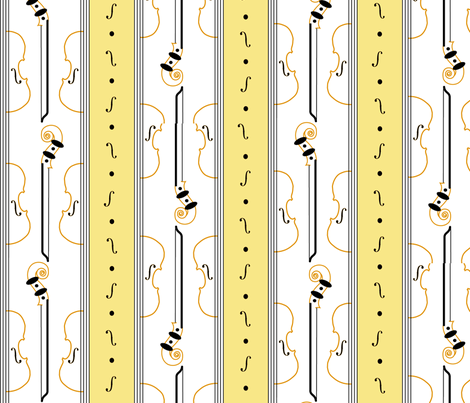 violin_stripe fabric by ali_c on Spoonflower - custom fabric