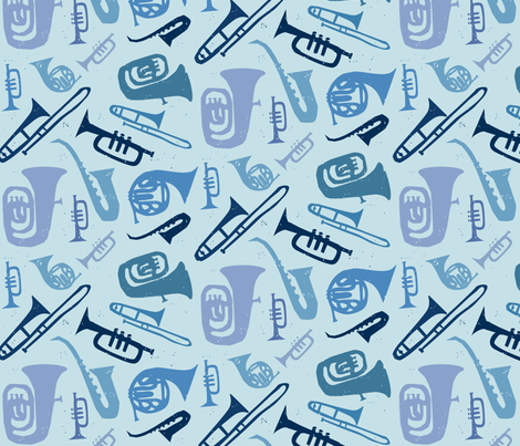 Cool Jazz fabric by jenimp on Spoonflower - custom fabric