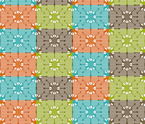 Banjos and Picks Starburst Quilt fabric by kdl on Spoonflower - custom fabric