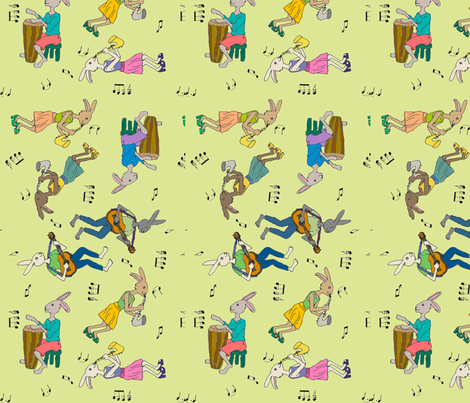 Jazz_Rabbits fabric by mandzy on Spoonflower - custom fabric