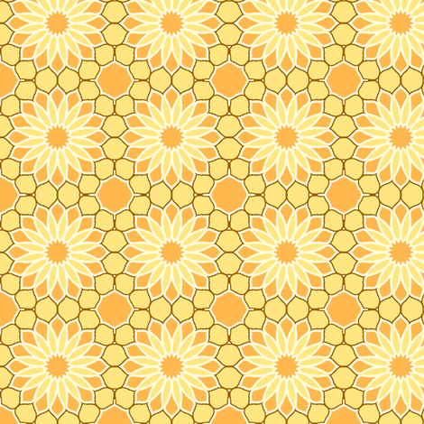 Rock Daisies - Sunshine Yellow fabric by inscribed_here on Spoonflower - custom fabric