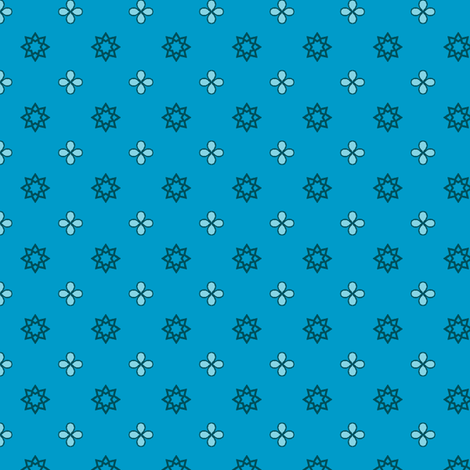 Starry Petals - Sky Blue fabric by inscribed_here on Spoonflower - custom fabric