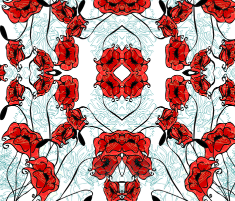 poppies fabric by kristenstein on Spoonflower - custom fabric