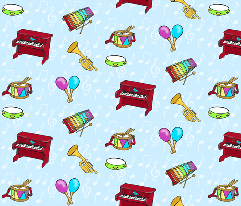 music time fabric by mytinystar on Spoonflower - custom fabric