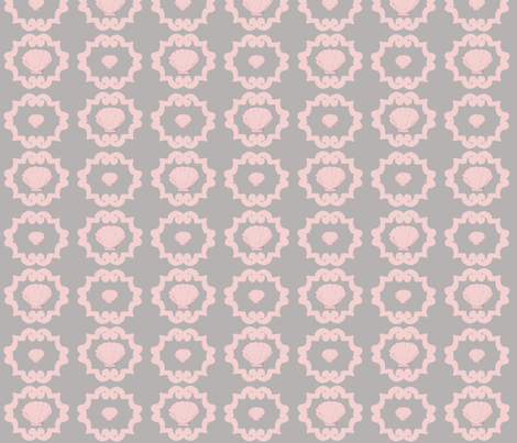 Pink Shell fabric by captiveinflorida on Spoonflower - custom fabric