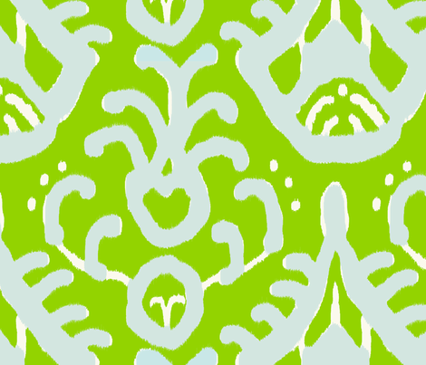 mojito_cream_ikat fabric by domesticate on Spoonflower - custom fabric