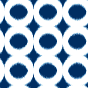 navy cream circle ikat