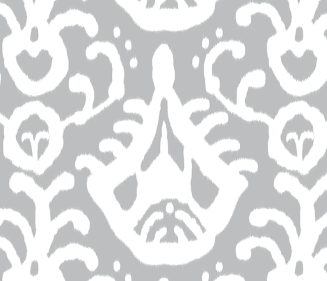 Gray Ikat fabric by domesticate on Spoonflower - custom fabric