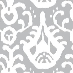 Gray Ikat