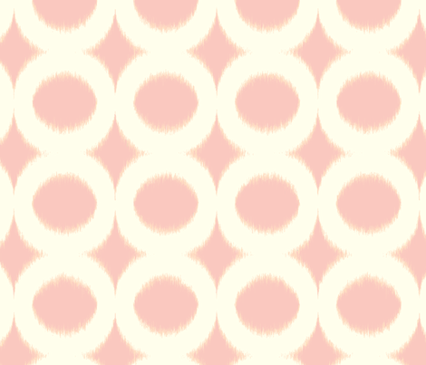 pink circle ikat fabric by domesticate on Spoonflower - custom fabric