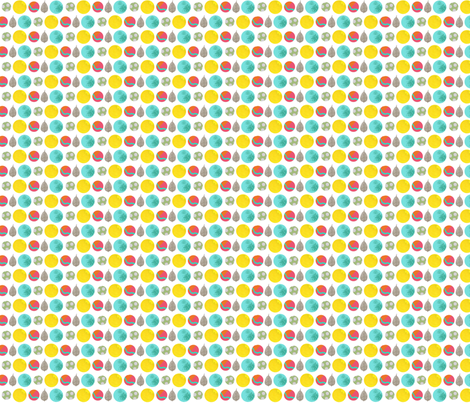 kaids_kitty_DOTS fabric by 2munkeez on Spoonflower - custom fabric