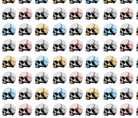 human_skull_pattern fabric by lousue on Spoonflower - custom fabric