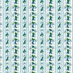 blue roses dollfabric