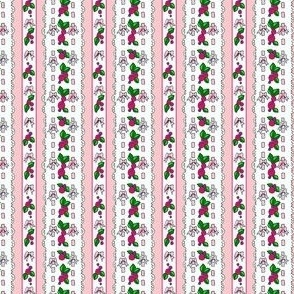 pink roses dollfabric