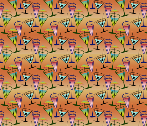 Fancy Cocktails fabric by diversepixel on Spoonflower - custom fabric