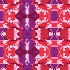 red, pink, purple petals
