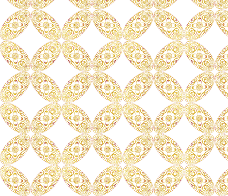 sprudla_mustard_ellipse_tilt fabric by snork on Spoonflower - custom fabric