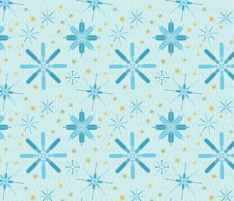 screwdriver garden fabric by linkolisa on Spoonflower - custom fabric