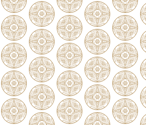 sprudla_dot_vintage_beige fabric by snork on Spoonflower - custom fabric
