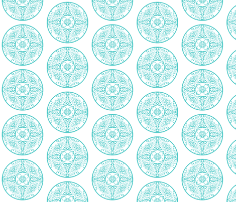 sprudla_dot_aquatic_blue fabric by snork on Spoonflower - custom fabric