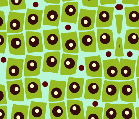 Olive Party fabric by funkynature on Spoonflower - custom fabric