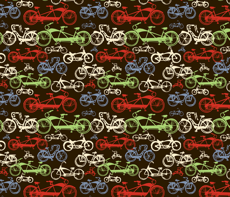 Vintage Cruiser Bikes fabric by twobloom on Spoonflower - custom fabric