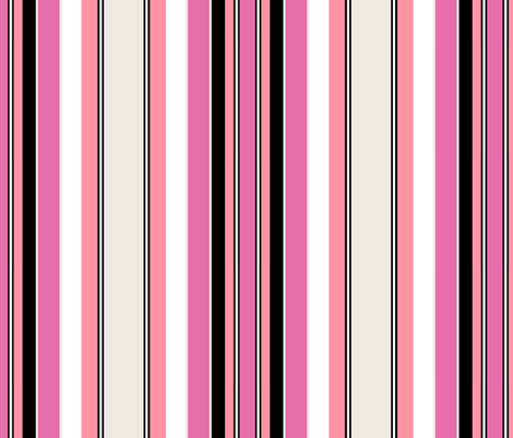 MOULIN / pink stripe fabric by paragonstudios on Spoonflower - custom fabric