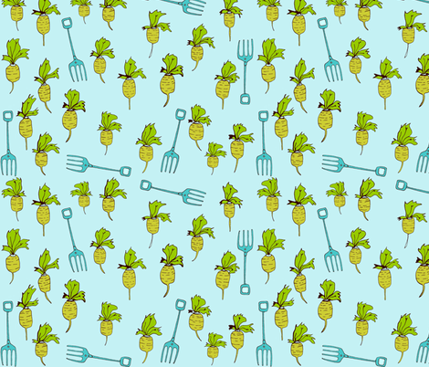 gardening time fabric by mummysam on Spoonflower - custom fabric