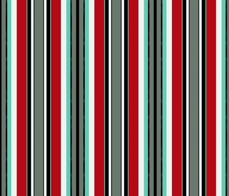 MOULIN / Aqua stripe fabric by paragonstudios on Spoonflower - custom fabric