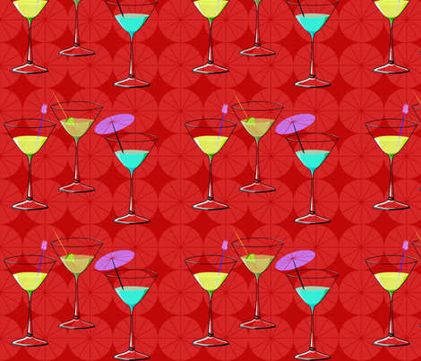 cocktail_umbrella_entry fabric by vo_aka_virginiao on Spoonflower - custom fabric