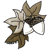 Sepia Acorn