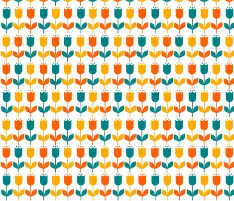 Tulips 2 fabric by p&e_designs on Spoonflower - custom fabric