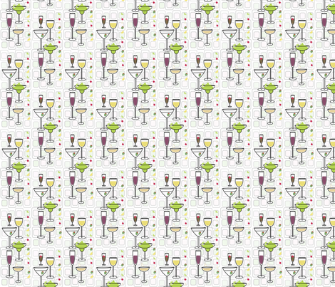 Cocktail Party fabric by kiwicuties on Spoonflower - custom fabric