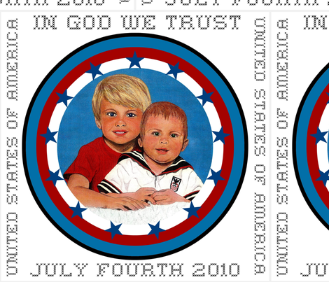 IN GOD WE TRUST 4th 2010 fabric by paragonstudios on Spoonflower - custom fabric