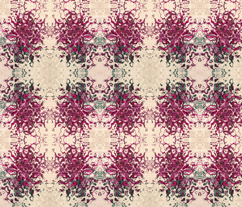 6 petal pink flower a1 fabric by yarrow4 on Spoonflower - custom fabric