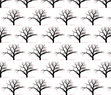 the cherry tree fabric by winter on Spoonflower - custom fabric