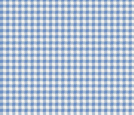 gingham_in_blue fabric by victorialasher on Spoonflower - custom fabric