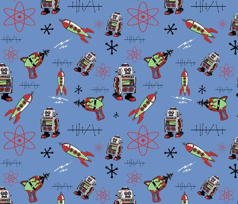Retro Space II fabric by poetryqn on Spoonflower - custom fabric