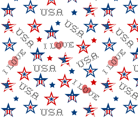 I LOVE USA fabric by paragonstudios on Spoonflower - custom fabric